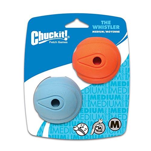 Chuckit The Whistler Dog Toy, 6 cm, Medium, 2-Piece