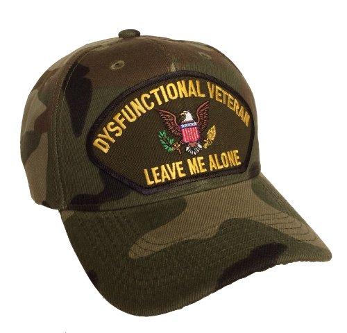 Dysfunctional Veteran Hat Camo Ball Cap Leave Me Alone