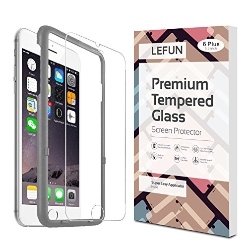 iPhone 6 Plus Plus Screen Protector (5.5 inches only) LeFun™ Tempered Glass Screen Protector with APPLICATOR HD Oleophobic Anti Scratch Anti Fingerprint for iPhone 6 Plus /6s Plus