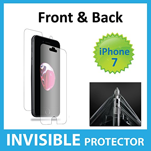 Apple iPhone 7 Screen Protector Full Body INVISIBLE Film Shield (Front, Back & Sides included) Military Grade Protection Exclusive to ACE CASE
