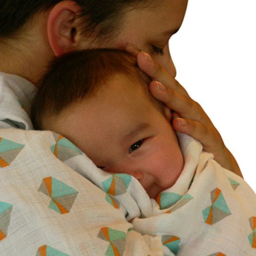 #1 Best Swaddle Blanket 100% Cotton Muslin Premium Baby Gift. Soft 46x46 Wrap.