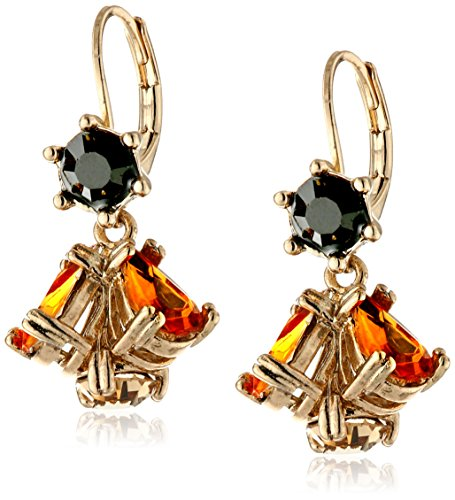 Betsey Johnson Hollywood Glam Cluster Drop Earrings