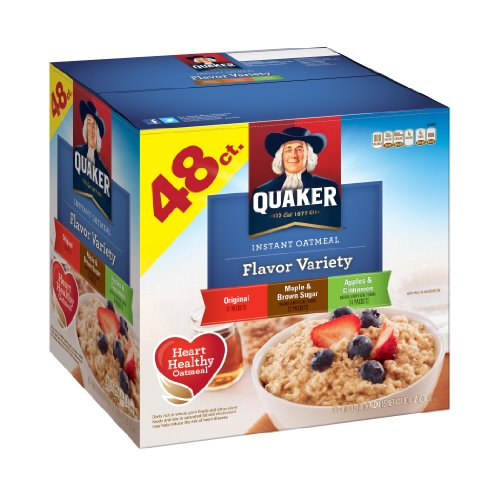 Quaker Instant Oats Variety Pack, 48-Count