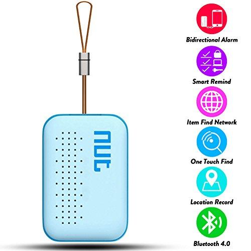 Anti-lost Alarm,TWOBIU Mini Smart Tag GPS Tracker Bluetooth Anti-lost Alarm Key Finder Locator-Blue