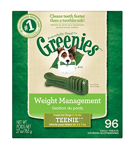 GREENIES Weight Management Dental Chews Teenie Dog Treats, 96 Count
