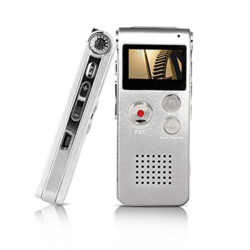 Btopllc Digital Voice Recorder MP3 Player with Mini USB Port, Digital Audio Voice Recorder MP3 Player Support A-B Repeat, Recording Telephone Conversations / Meetings / Interviews