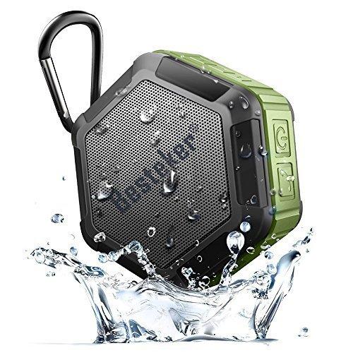 Besteker Ultra Portable Wireless Bluetooth Speakers with IP67 Waterproof NFC Pairing Function Best Outdoor Shower Speaker Army Green