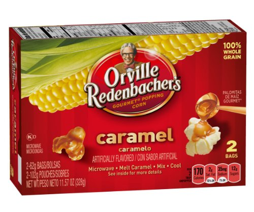 Orville Redenbacher's, Caramel Gourmet Microwave Popping Corn, 2 Count, 11.57oz Box (Pack of 3)