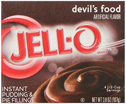 JELL-O Instant Pudding and Pie Filling, Devil's Food, 3.8-Ounce