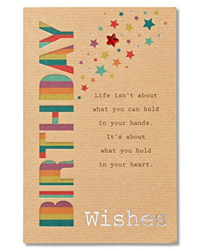 Birthday Wishes Birthday Card with Foil
