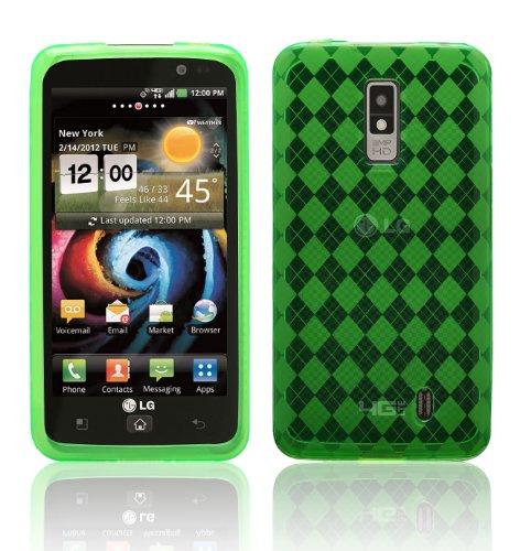 Green - Cruzer LiteTM Argyle High Gloss TPU Soft Gel Skin Case - For LG Spectrum [Cruzer Lite Retail Packaging]