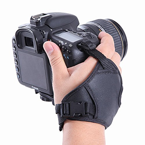 VONOTO Photo DualStrap Padded Wrist & Grip Strap for DSLR Cameras - Prevents droppage and stabilizes video