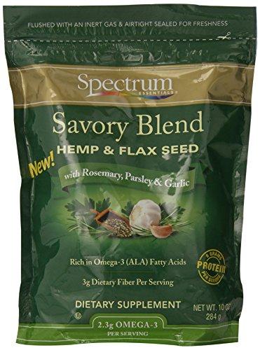 Spectrum Essentials Hemp & Flax Seed, Savory Blend, 10 Ounce