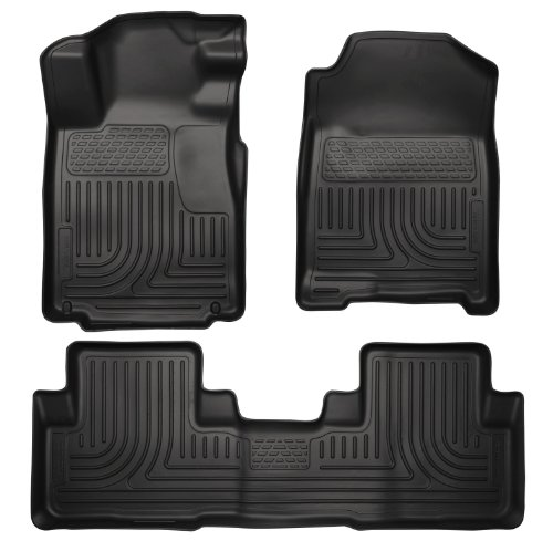 Husky Liner 98101 Weatherbeater Series Thermoplastic Olefin Black Front & 2Nd Seat Floor Liners