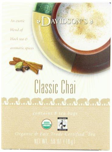 Davidson's Tea Classic Chai, 8-Count Tea Bags (Pack of 12)