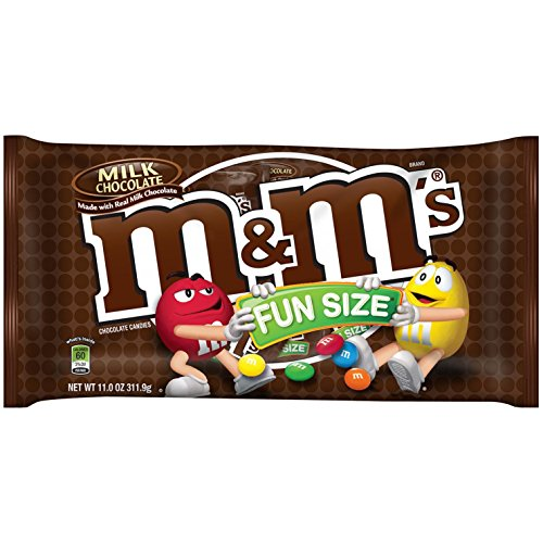 M&M'S Milk Chocolate Candy Fun Size 11-Ounce Bag (Pack of 6)