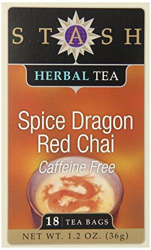 Stash Tea Spice Dragon Red Chai Herbal Tea, 18 Count Tea Bags in Foil (Pack of 6)
