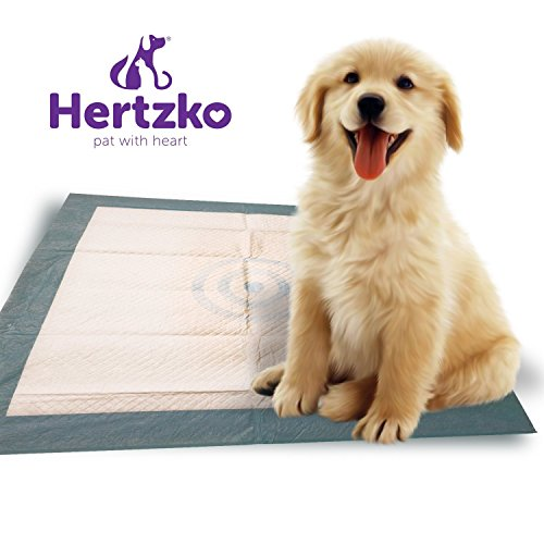 Hertzko 50 Large Super Absorbent Training Pads Pads For Dogs And Cats - With Thick And Leak-Proof Liners
