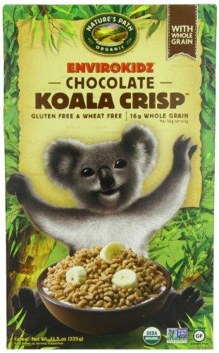 EnviroKidz Organic Chocolate  Koala Crisp Cereal, 11.5-Ounce Boxes (Pack of 6)