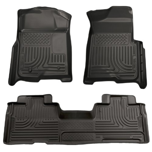 Husky Liners Custom Fit Front and Second Seat Floor Liner Set for Select Ford F-150 Models (Black)