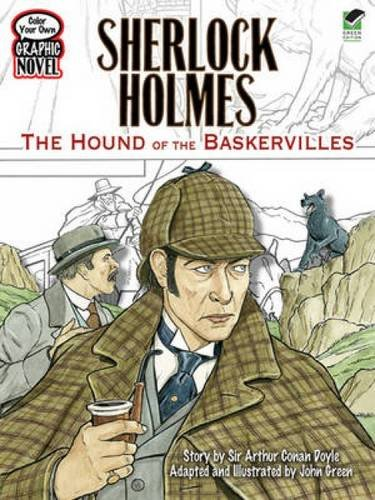 Color Your Own Graphic Novel SHERLOCK HOLMES: The Hound of the Baskervilles (Dover Classic Stories Coloring Book)
