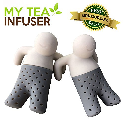 My Tea Infuser | The Most Innovative Design With Efficient Filter and Infuser | Premium Food Grade Silicone | Microwave Friendly | Long Lasting and Anti Damage | Adaptive To Loose Tea Leaves/Bags | Set Of 2 | 811