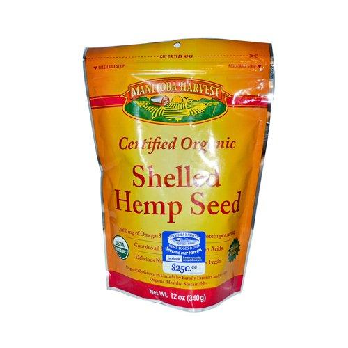 Manitoba Harvest Organic Hemp Seed Nut, 12 Ounce -- 6 per case.