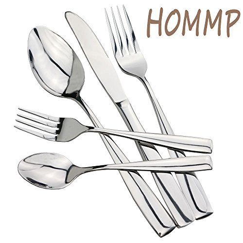 HOMMP Stainless Steel Flatware Sets, 35-piece, Service for 7