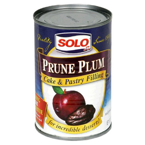 Solo Filling, Prune Plum, 12-Ounce Unit (Pack of 12)