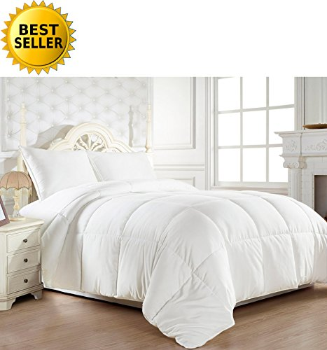 Celine Linen® Luxury Down Alternative Double-Filled Comforter %100 HypoAllergenic, Full/Queen , White