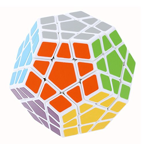 Dreampark 12 Side Megaminx Speed Cube Puzzle, White - Perfect Gift for Kids - Safe for Children - 100% Satisfaction Guaranteed!