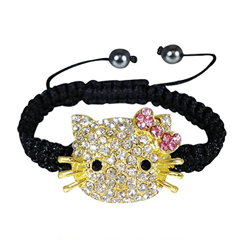 Wrapables Children's Shamballa Inspired Kitty Cord Bracelet