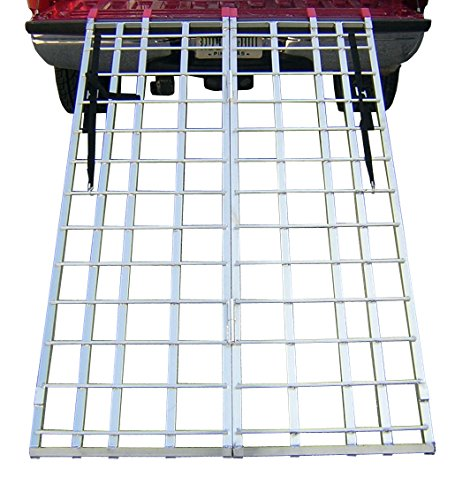 Pit Posse PP2754A Motorcycle ATV Folding Loading Ramp Aluminum 1200Lbs Rated 71 Long 44 Wide