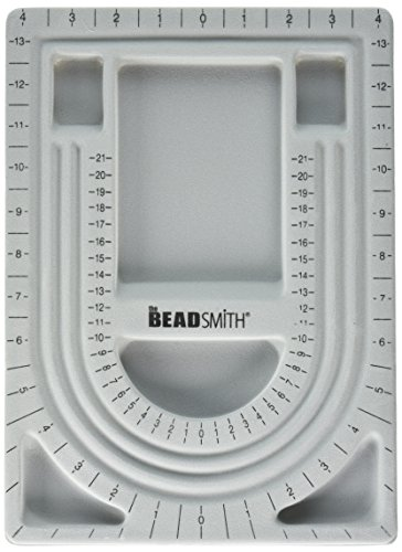Bead Design Beading Board Gray Flock With Lid 9 X 12 Inches