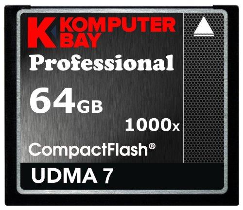 KOMPUTERBAY 64GB COMPACT FLASH CARD CF professional 1000X 150 MB / s speed RAW Extreme 64GB UDMA 7