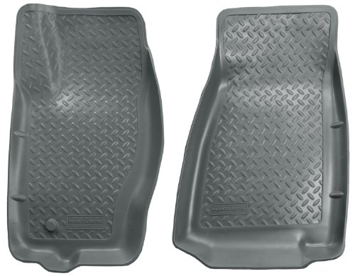 Husky Liners Classic Style Custom Fit Molded Front Floor Liner for Select Jeep Commander/Grand Cherokee WK Models (Grey)