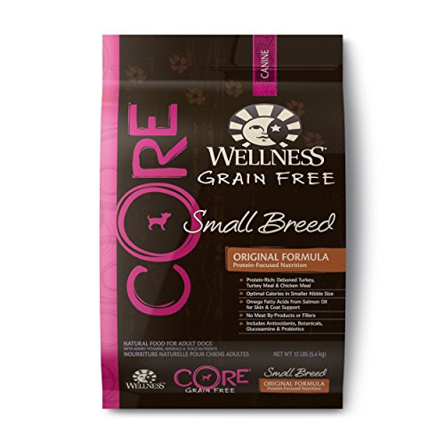 Wellness CORE Grain Free Small Breed Turkey & Chicken Natural Dry Dog Food, 12-Pound Bag