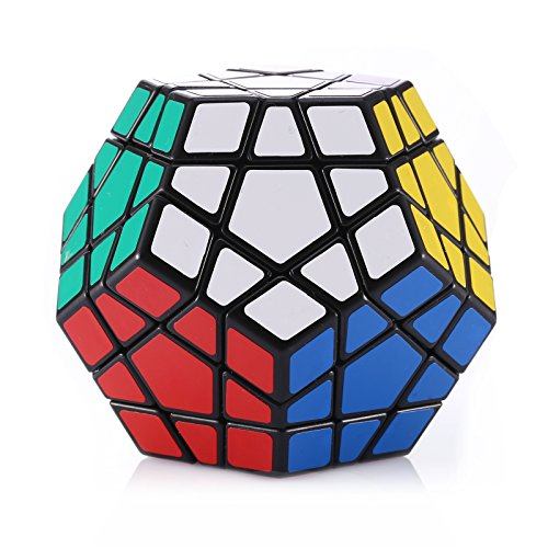 Dreampark 12 Color Layer Megaminx Speed Cube Puzzle, Black - Perfect Gift Puzzle Box for Kids - Safe for Children - 100% Satisfaction Guaranteed!