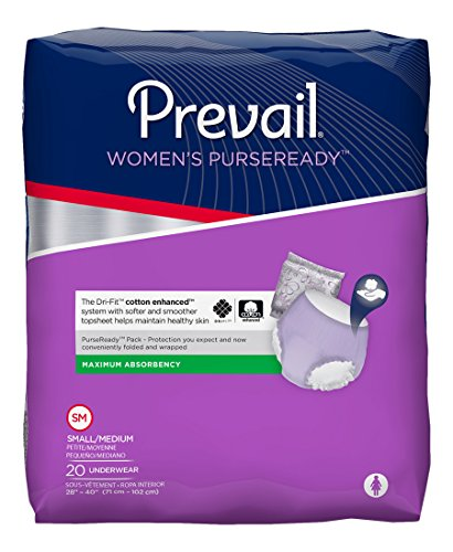 Prevail For Women PurseReady Underwear: Maximum Absorbency - Small/Medium