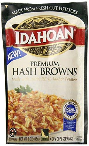 Idahoan Premium Hash Browns, 3 Ounce (Pack of 10)