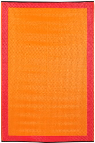 Skien - Orange Peel & Rouge Red (5' x 8')