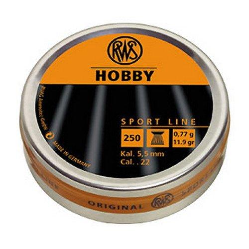 Umarex RWS Hobby 2317377 Sport Line 11.9 Grain Air Gun Pellets, 0.22 Caliber, Silver