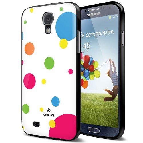 [Polka Dot] Obliq Samsung Galaxy S4 Case - Premium Slim Fit TPU Jelly Case - Retail Packaging - Verizon, AT&T, Sprint, T-Mobile, International, and Unlocked - Flip Cover for Galaxy S 4 SIV S IV i9500 2013 Model
