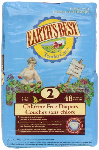 Earth's Best Chlorine Free Diapers - Stage 2 48 Count