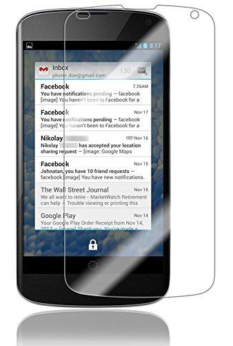 Google Nexus 4 Screen Protector (Full Coverage), Skinomi® TechSkin - Premium HD Clear Film with Lifetime Warranty / Ultra High Definition Invisible & Anti-Bubble Crystal Shield