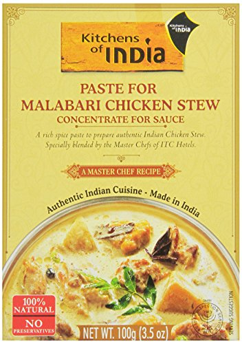 Kitchens of India Paste for Malabari Chicken Stew, 3.5 Ounce (Pack of 6)