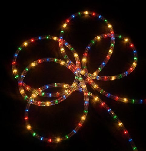 18' Vibrant Multi-Color Indoor/Outdoor Christmas Rope Lights