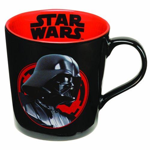 Vandor 99661 Star Wars Darth Vader The Dark Side 12 oz Ceramic Mug, Black and Red