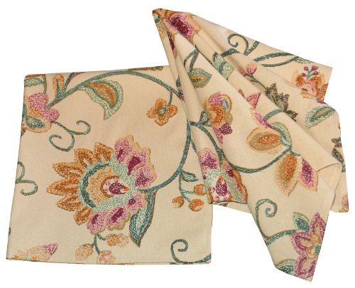 Squish French Countryside Floral Design Cotton Cloth Napkins, Set of 4 -