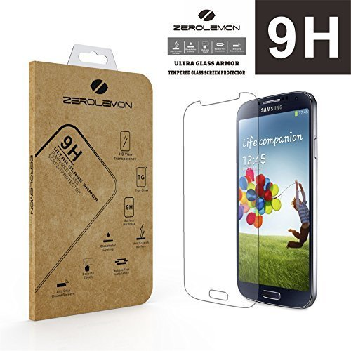 [Lifetime Warranty] Zerolemon® Ultra Glass Armor - 9h Premium Tempered Glass Screen Protector for Samsung Galaxy S4 Protect Your Screen From Drops and Scratches